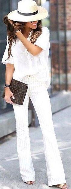 #summer #elegant #feminine | All White Everything