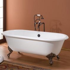 Have to have it. Cheviot Regal 60 in. Classic Cast Iron Clawfoot Tub $1919.99
