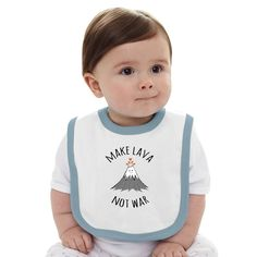 MAKE LAVA NOT WAR Baby Bib