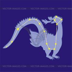 Constellation Draco - vector clipart