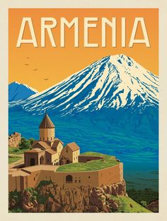 Anderson Design Group – World Travel – Armenia Vintage Travel Posters, Vintage Postcards, Armenia Travel, Poster City, Tourism Poster, Photo Vintage, Art Graphique, Countries Of The World, Around The Worlds