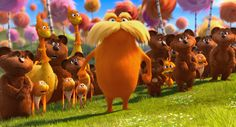 "The Lorax"" is rated PG (Parental guidance suggested). Description from nytimes.com. I searched for this on bing.com/images"