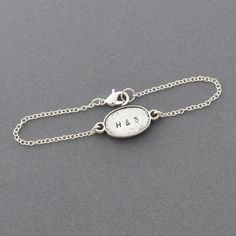 Couple initials bracelet in silver, monogram, , lInitial Personalized braceletover bracelet, couple set jewelry, BFF. $16.20, via Etsy.