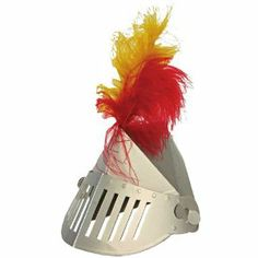 "Meri Meri Brave Knights Party Hats, 8-Pack by Meri Meri. $11.95. Features a moveable faceplate - just like real armor. The perfect armor for your Middle Ages-themed party. Each hat topped a red and gold feather. Hats measure 7"" x 8"" x 1-1/2"". Pack of 8 hats. Use the Meri Meri Brave Knights Party Hats to top off your knight-in-shining-armor-themed party. These hats are an intricate spin on standard conical party headwear. Each hat is shaped like a knight's helmet, complete with..."