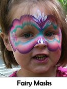 Popular Fairy Face Painting Mask Designs