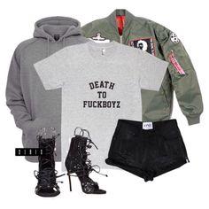 Modekungen bomber ($300), Urban Classics hoodie ($59), tee via teamxirix.com ($25, link in bio), One Teaspoon shorts ($119), and Dsquared heels ($1905) xx