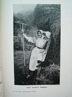 'Manx Farmer's Daughter' from the Isle of Man <> (celts, celtic, photo, history)
