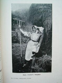 Europe: Celtic Manx woman, Isle of Man [Photo by Geo. Cowen of Ramsey c1900]