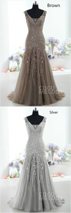Definitely in brown! Unique for a wedding dress!! Love it!