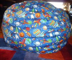 Rocket Planets Ben Bag Chair Cover  Under 75 by CopperBugCompany, $55.00