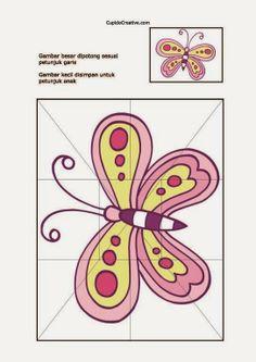 kerajinan/prakarya anak TK, buat sendiri puzzle/jigsaw gambar kupu kupu