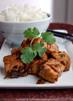 Chinese Coke-a-Cola tofu. #vegan