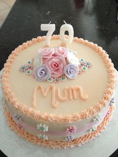 Image Result For Pale Blue Th Birthday Cake