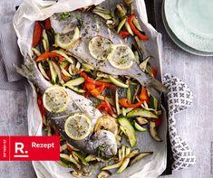 Dorade aus dem Ofen mit Gemüsepommes aus Low Carb Schnell&Easy von Hola die Kochfee