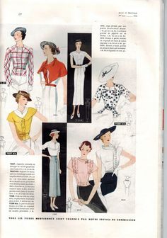 Soyons Chic et Pratiques women's monthly fashion magazine by Condé Nast - June 1934 sporty summer patterns issue - French 30s vintage