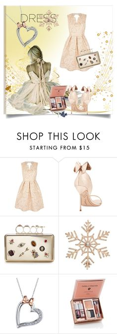 """Perfect Party Dress"" by kari-c ❤ liked on Polyvore featuring Yumi, Sophia Webster, Alexander McQueen, John Lewis, Disney and partydress"