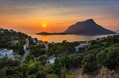 Sunset in Kalymnos island! by George Papapostolou on Kos, Wonderful Places, Beautiful Places, Pastel Sunset, Paleo, Flat Earth, Sunset Pictures, Photos Of The Week, Greece Travel