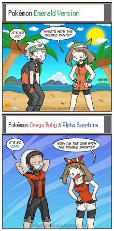 Before and After by Gabasonian on DeviantArt Pokemon N, Pikachu, Pokemon Omega Ruby, Pokemon Emerald, Pokemon Comics, Pokemon Funny, Pokemon Memes, Pokemon Pictures, Funny Pictures