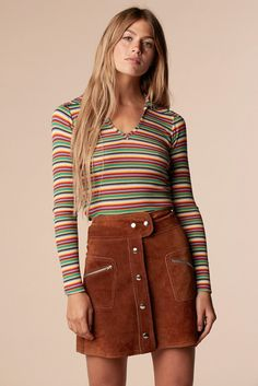outfits me Zanj Kushan Brady Bunch Rainbow Shirt Stoned Immaculate Vintage We. 70s Inspired Fashion, Trend Fashion, 70s Fashion, Autumn Fashion, Womens Fashion, Fashion Vintage, 1970s Hippie Fashion, 70s Inspired Outfits, Seventies Fashion