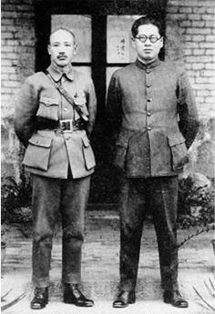 Chiang Kaishek (Chiang Chung-cheng) and Song Ziwen in Shanghai, China, 1930s