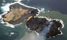 Japanese 'Snoopy' island created by volcanic eruption
