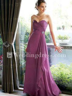 Chiffon Bridesmaid Dress comes in teal
