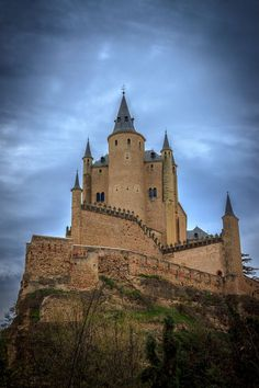 Alcázar de Segovia,Spain I've been here... one of the castles the disney world castle is modeled after. Very cool medieval city in Spain!