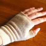 Tutorial: Turn old sweater sleeves into a pair of fingerless gloves