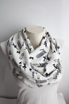 Ballerina Silhouette Scarf Bird Cage Infinity Scarf Ballerina Gift Gift for Her Women Accessories by dreamexpress from dreamexpress on Etsy. Find it now at http://ift.tt/2ai4Ofe!
