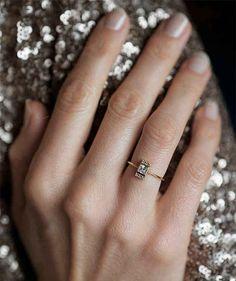 anéis de noivado minimalistas