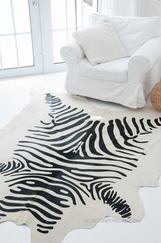 Jersey Road - Zebra Print Cowhide Rug (Off-White), $449.00 (http://www.jerseyroad.com/zebra-print-cowhide-rug-off-white/) 100% top quality Brazilian cowhide rug. FREE SHIPPING USA and Canada wide.  Tags: #cowhide #cowrug #rug #leather #beautifulroom #dreamroom #bedroom #jerseyroadco #whiteonwhite  #zebra #zebraprint #zebrahide #livingroom #scandinavian #decor #glam #animalprint #safari #interior #house #redecorate
