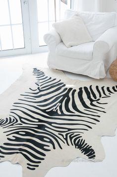 Jersey Road - Zebra Print Cowhide Rug (Off-White), $449.00 (http://www.jerseyroad.com/zebra-print-cowhide-rug-off-white/) 100% top quality Brazilian cowhide rug. FREE SHIPPING USA and Canada wide.  Tags: #cowhide #cowrug #rug #leather #beautifulroom #dreamroom #bedroom #jerseyroadco #whiteonwhite  #zebra #zebraprint #zebrahide #livingroom #scandinavian #decor #glam #animalprint #safari #interior #house #redecorate