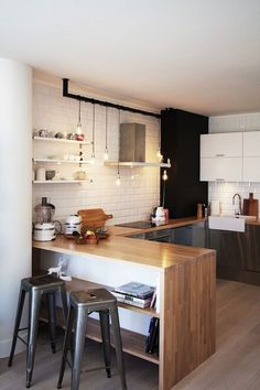 Awesome 65+ Amazing Small Modern Kitchen Design Ideas https://decoor.net/65-amazing-small-modern-kitchen-design-ideas-843/