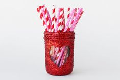 - Do you drink your coffee or favorite drinks from a mason jar? Well, make yourself a decorative mason jar koozie, or cozy as they're sometimes called, . Kerr Mason Jars, Uses For Mason Jars, Ball Mason Jars, Mason Jar Lids, Mason Jar Crafts, Glitter Jars, Easy Crafts For Kids, Valentine's Day Diy, Valentines Diy