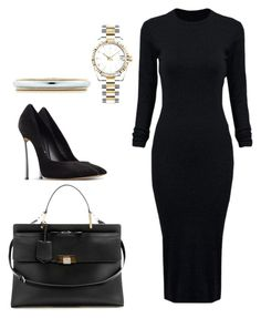 """Untitled #8"" by hongjina on Polyvore featuring Balenciaga, WithChic, Casadei, Tiffany & Co., Rolex, women's clothing, women's fashion, women, female and woman"