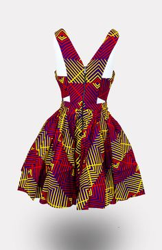 Original Chinero Nnamani African Wax Print, Reversible, Dress, cotton/ 152 Made with Love in Nigeria African Dresses For Kids, African Print Dresses, African Print Fashion, Old Fashion Dresses, Latest African Fashion Dresses, Fashion Outfits, Tennis Dress, African Blouses, African Attire