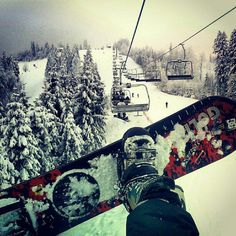 Snowboarding with my family