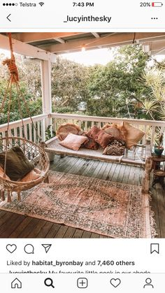 Idyllic place to spend all these beatiful spring moments 🌸 . Via Idyllic place to spend all these beatiful spring moments 🌸 . Gypsy Decor, Bohemian Decor, Hippie Bohemian, Bohemian Homes, Bohemian Style, Outdoor Spaces, Outdoor Living, Outdoor Decor, Design Balcon