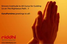 Greetings and wishes to all my friends and followers on this auspicious day, Stay blessed! #GuruPurnima #RiddhiDisplay