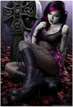 Goth Vampire Girl Photo: This Photo was uploaded by Tim_FallenOne. Find other Goth Vampire Girl pictures and photos or upload your own with Photobucket . Dark Beauty, Goth Beauty, Gothic Mode, Dark Gothic, Gothic Fantasy Art, Fantasy Girl, Final Fantasy, Nu Goth, Suicide Girls