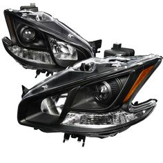 Nissan Maxima  2009-2011 Black  Projector Headlights