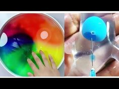 YouTube Edible Slime, Diy Slime, Satisfying Things, Oddly Satisfying, Kid Hair, Glitter Slime, Kid Closet, Slime Videos, Slime Recipe