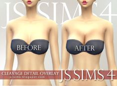 [JS SIMS 4] Cleavage Detail Overlay | JS SIMS