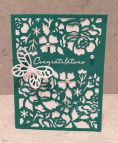 by Dayanna: Floral Phrases bundle and Bold Butterfly framelits - all from Stampin' Up!