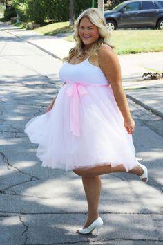 Society Plus - Plus Size Tutu… Tulle Skirt Plus Size, Plus Size Tutu, Plus Size Lingerie, Plus Size Dresses, Plus Size Outfits, Tulle Skirts, Big Girl Fashion, Curvy Fashion, Plus Size Fashion