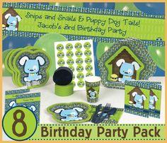 Boy Puppy Dog - 8 Birthday Party Pack   $57.99