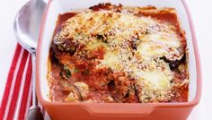 Layers of cheese and eggplant make this bake bellissimo. Greek Recipes, Light Recipes, Easy Recipes, Cookbook Recipes, Cooking Recipes, Grilled Eggplant, Meat And Cheese, Food Categories, Winter Food