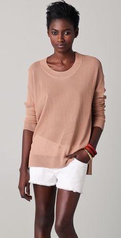 scoop neck pullover