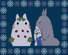 My Neighbour Totoro winter cross stitch PDF pattern