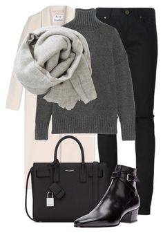 """Untitled #2258"" by rosyfilm ❤ liked on Polyvore featuring Yves Saint Laurent, Acne Studios, NLST and Brunello Cucinelli"